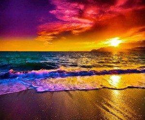 The sea, sand and beautiful sky