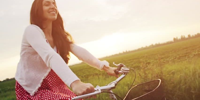 While riding a bike you can experience hypnosis and therefore can completely forget a small or big part of your journey!