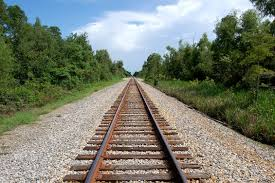 A perspective of a train track