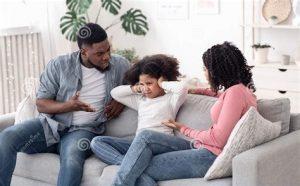 Ontevreden ouders en hun kind